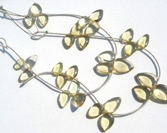 Lemon Quartz Smooth Arrow Semi Precious Gemstone Beads (Quality AA) / 15 Pieces / CODE 103