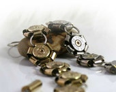Bullet Bracelet, 45 Auto ACP, Brass or Nickel Shells with Spent Primers, Sterling Silver Links