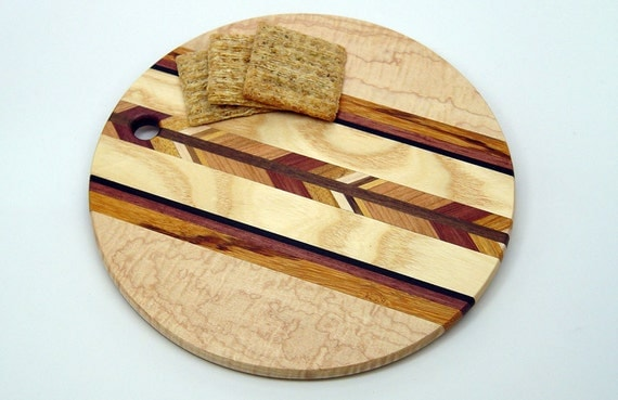 maple 8 round wood cutting board b by 866woodguy on etsy. Black Bedroom Furniture Sets. Home Design Ideas