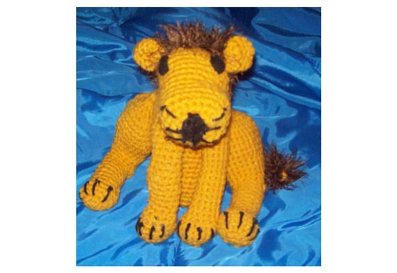 Lion Large Amigurumi Stuffed Animal   Leo Toy