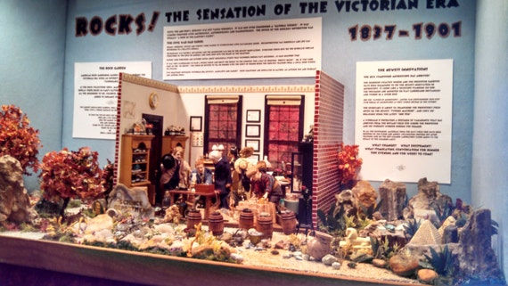A Victorian Geology Lab Diorama, One Inch Scale, All Specimens Real