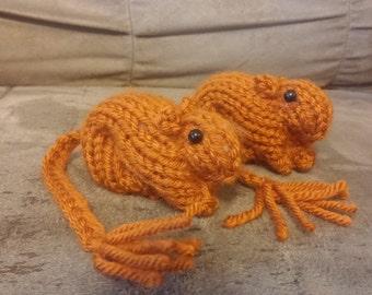 Knitted Gerbil 3 Argente
