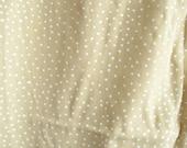 Tan Polka Dot Rayon Vintage Fabric Yardage Destash
