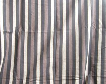 Brown Stripe Fabric Yardage Home Decor Weight