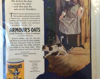 Armour's Oats print ad circa 1922 Chicago 13 x 10. Original ad.