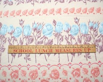 Vintage Blue Rose 70's Fabric