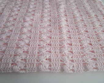 Crochet Afghan Pattern, Easy Crochet Blanket Pattern, Interlocking Shell Stitch, Crochet Baby Blanket Pattern, Instructions to Make ANY size
