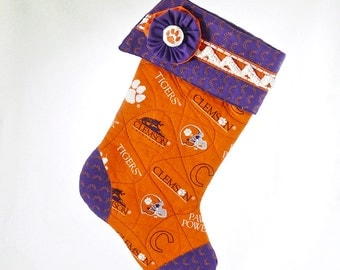 CLEMSON Tigers Heirloom Christmas Stocking 2