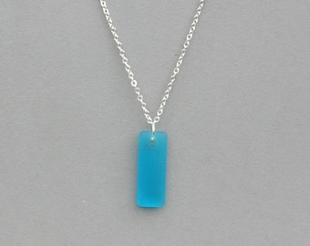 Pacific Blue Seaglass Pendant Necklace