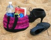 Bikini Bag Crochet Purse in Pink Valentines