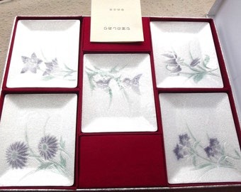 Shippo Cloisonne Japanese Sushi Serving Trays Never Used ATELIER YUMESAKI Shippo Rectangle Trays New in Box