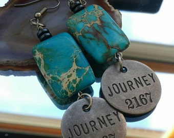 word earrings Journey earrings {Thought-full} collection