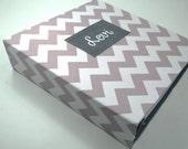 Modern Baby Book boy baby Memory book personalized pregnancy journal -gray chevron