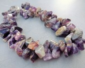 Amethyst Tumbled Nugget Beads 8 inch Strand 12-35mm