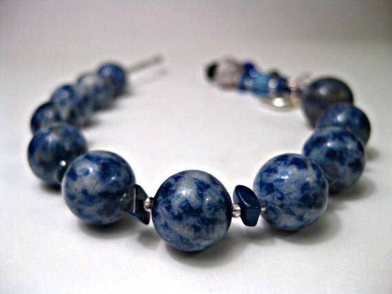 Denim Lapis & Sodalite Gratitude Meditation Beads