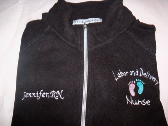 and Delivery Nurse Embroidered Fleece Jacket