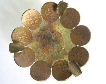 Vintage Ashtray - Made from Coins