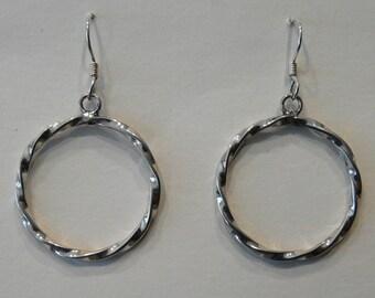 "Sterling Silver ""Twisted"" Earrings"