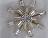Vintage Snowflake Spiral Brooch 1960s
