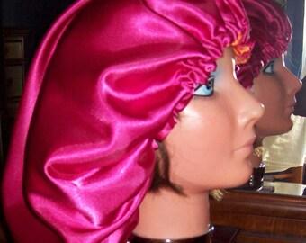 Satin hair bonnet, sleep bonnet, Many colors available, hair protection NEW custom made
