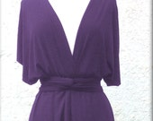 Reserved for E.S.Infinity Dress  floor length dress   two layers with chiffon in dark purple color   with tube top Bridesmaids dress