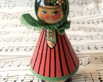 Little wooden Polish doll