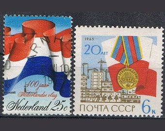 48  Postage Stamps - Flags