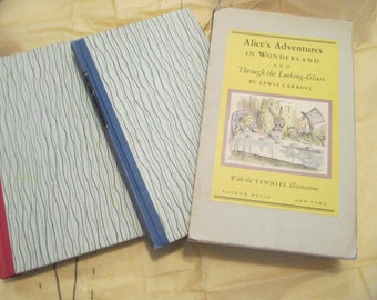 2 Book Set -Alice in WONDERLAND - Through the LOOKING GLASS-Random House