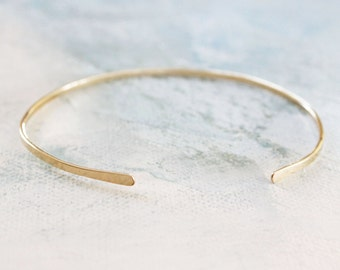 Gold Bangle Cuff Bracelet , thin gold bangle, gold cuff bracelet, adjustable gold bangle bracelet, gold jewelry
