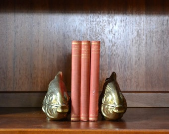vintage brass fish figurine bookends
