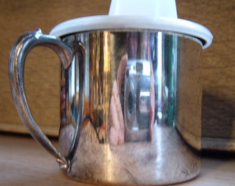 Sippy Cup Silverplate Oneida , 5 Ounce Capacity, Gold Color Inside