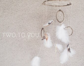 Mobile Dream Catcher - Neutral and Tonal Colors Customizable - Insurance included in ALL domestic shipping!