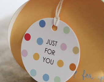 20 Colorful Dots Circle Gift Tags (2in)