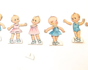 Kewpie Dolls Paper Doll Box, Vintage Dolls and Outfits A2