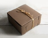 8 x 8 x 3  Kraft Cupcake or Gift Boxes set of 24