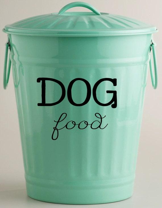 dog food vinyl decal storage container decor by landbgraphics. Black Bedroom Furniture Sets. Home Design Ideas