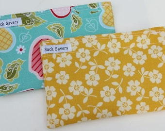 Reusable Snack Bag Set of Two Eco Friendly Apple of My Eye October Afternoon