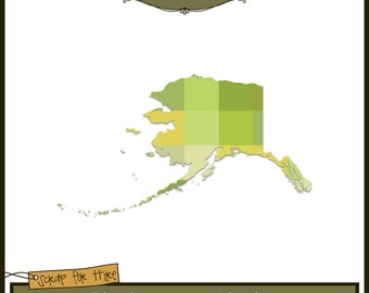 Photo Map Template: Alaska