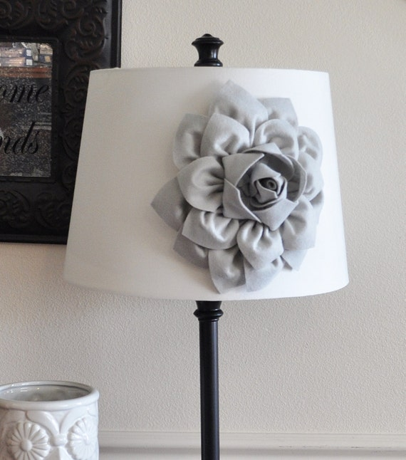 Gray dahlia lampshade flower accessory magnet lamp shade like this item aloadofball Choice Image