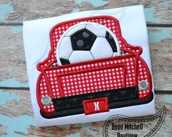 Soccer truck applique