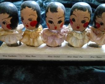 Vintage 1930's Karoff Quintuplets/Flapper Girls  Perfume Set