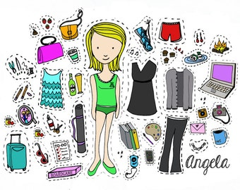 Custom Personalized Paper Dolls - Digital PDF