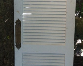Louvered Interior Butler's Door  with Brass Fittings