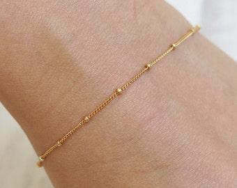 gold bracelet, thin gold bracelet, dainty bracelet, minimalist bracelet, tiny bracelet, gift bracelet, stacking bracelets, chain bracelet