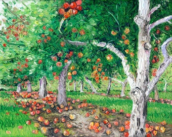 Giclee print, Apple Orchard, 8 x 10 in.