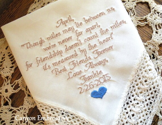Best Friend Wedding Gift, Personalized Best Friend Gift, Ivory ...
