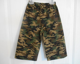 Boys camo pants cotton infant through 4 years many colors to choose from