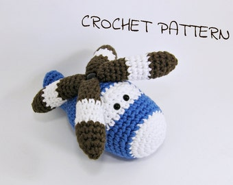Amigurumi helicopter crochet pattern soft toy - pdf tutorial in US English