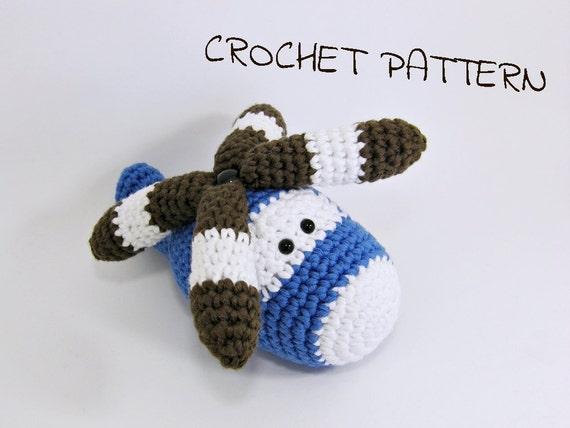 Amigurumi helicopter crochet pattern soft toy pdf tutorial