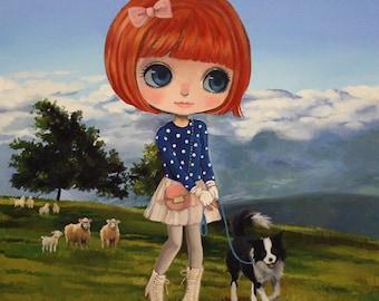 USELESS JOB -  Oil on Canvas by Nerea Pozo (40x40 cm)